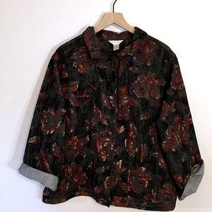 C. J. Banks Black Floral Jacket, 2X